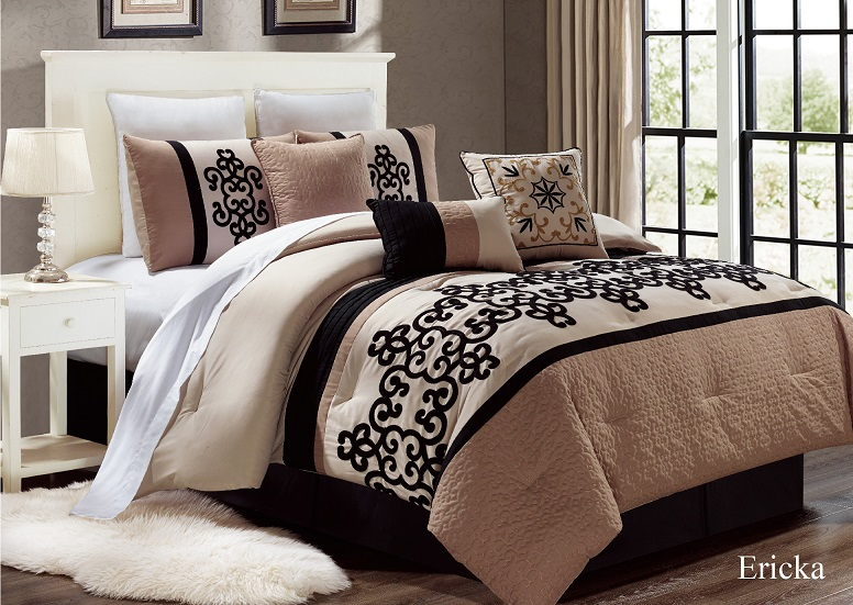 unique home 7 piece ericka ruffled bed in a bag clearance on walmart bedroom furniture clearance id=47548