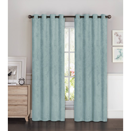 faux suede room darkening 108 x 96 in grommet curtain panel pair