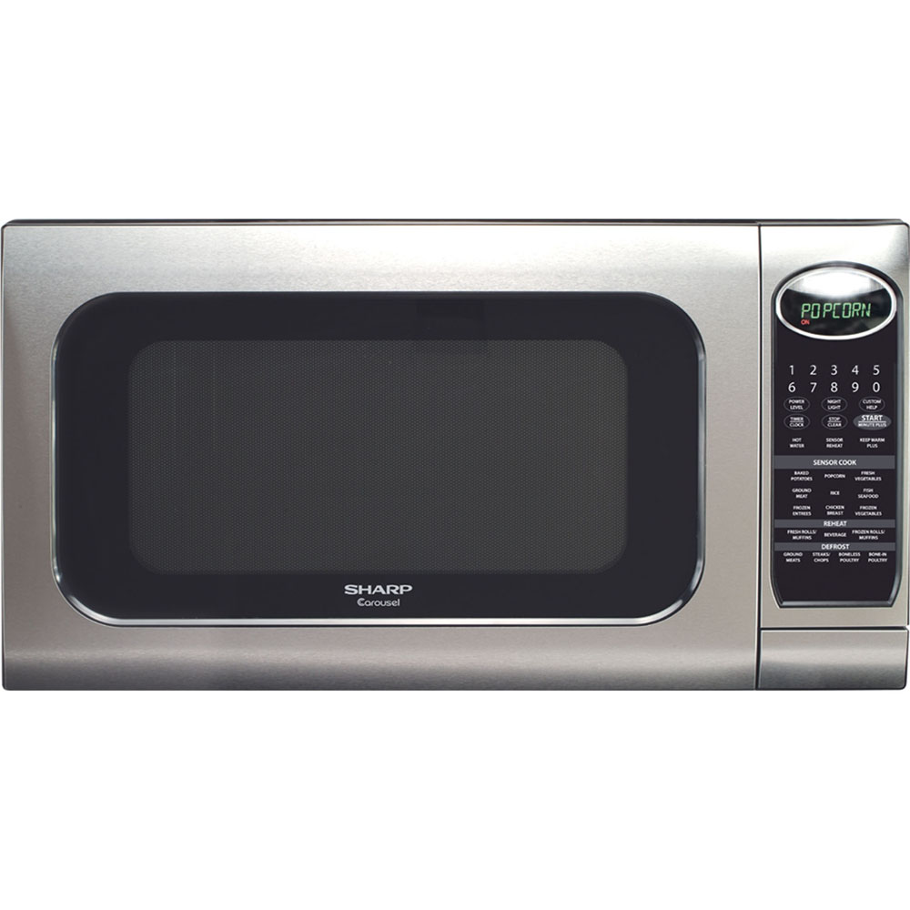 2 0 cu ft 1200w full size microwave oven stainless steel walmart com