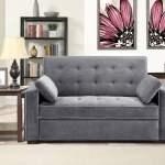 Serta Monroe Queen Sofa Bed Charcoal Walmart Com Walmart Com