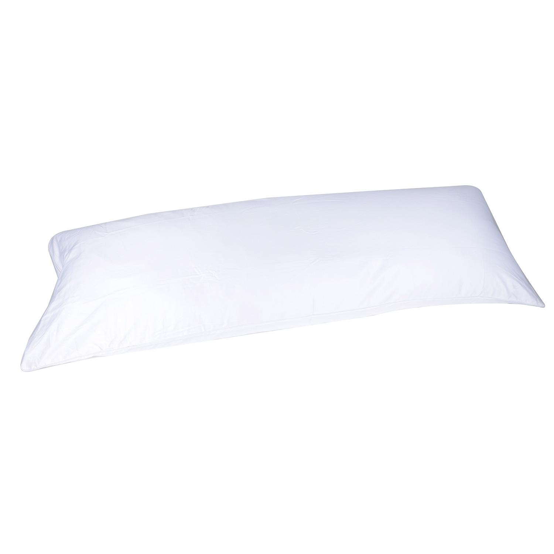 400 thread count cotton 20 x60 body pillow cover pillowcase double sided zipper white color 5 feet long walmart com walmart com