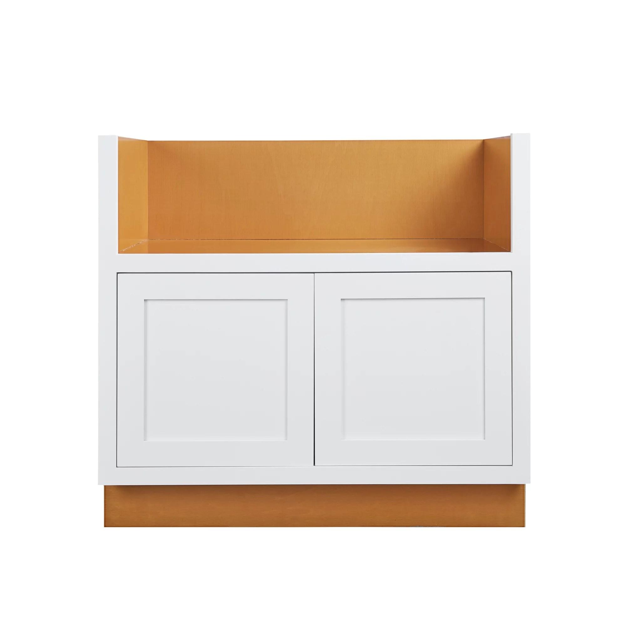 33 wide farm sink base kitchen cabinet snow white inset shaker fits 30 farm sink unassembled walmart com