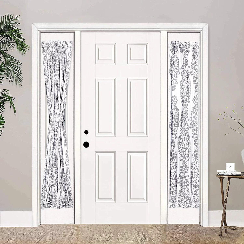 driftaway samantha sidelight curtain thermal rod pocket room darkening privacy front door panel single curtain with bonus adjustable tieback 25