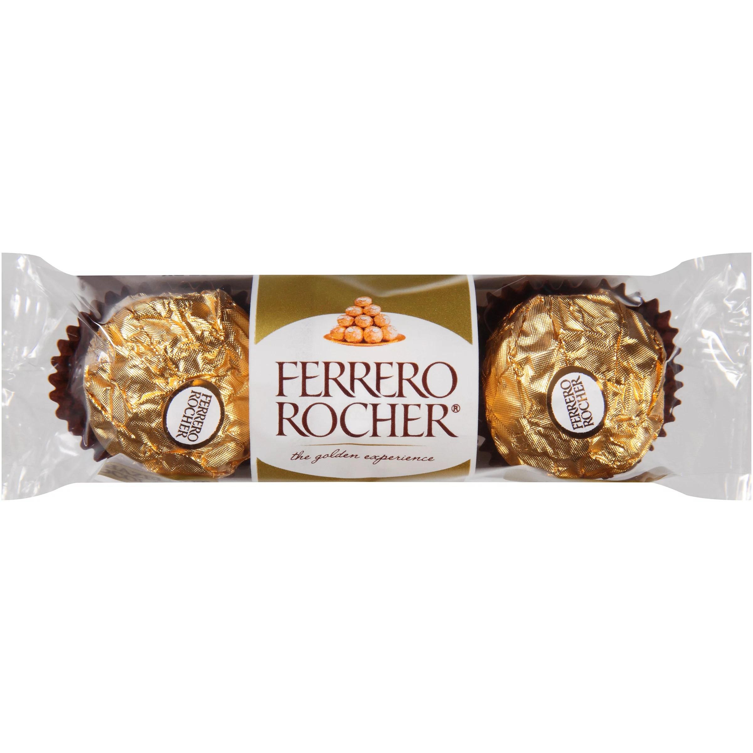 Ferrero Rocher Fine Hazelnut Chocolates 106 Oz Pack
