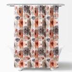 Leah Shower Curtain 72 X 72 Orange And Gray Walmart Com Walmart Com