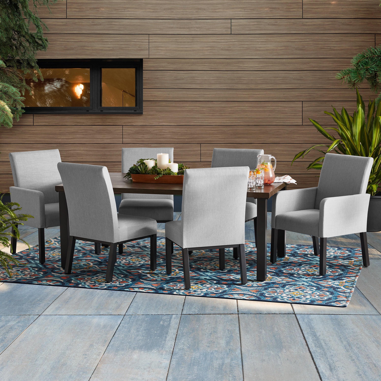 better homes gardens ellington 7 piece upholstered sling outdoor dining set walmart com