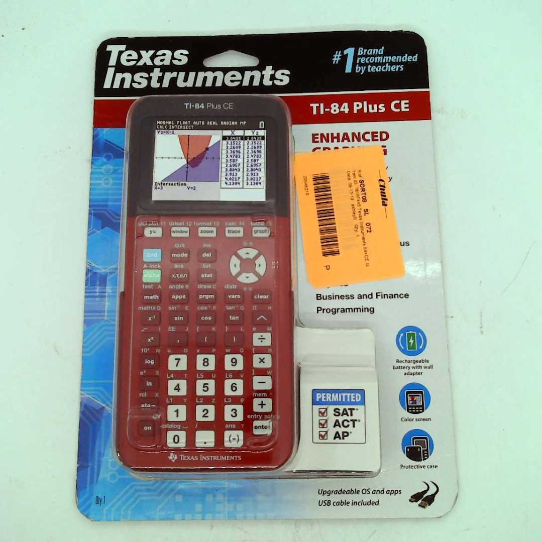 Texas Instruments Ti 84 Plus Ce Graphing Calculator