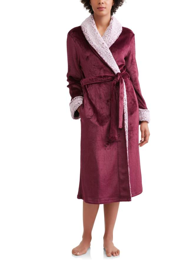 Secret Treasures Women's and Women's Plus Superminky Robe