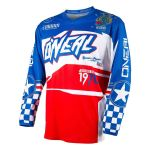 Oneal Element Afterburner Youth Blue Red Motocross Jersey Walmart Com Walmart Com