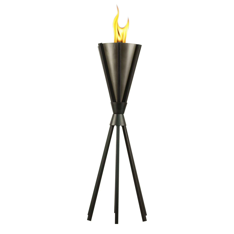 tiki brand 30 inch bonaire metal patio torch black