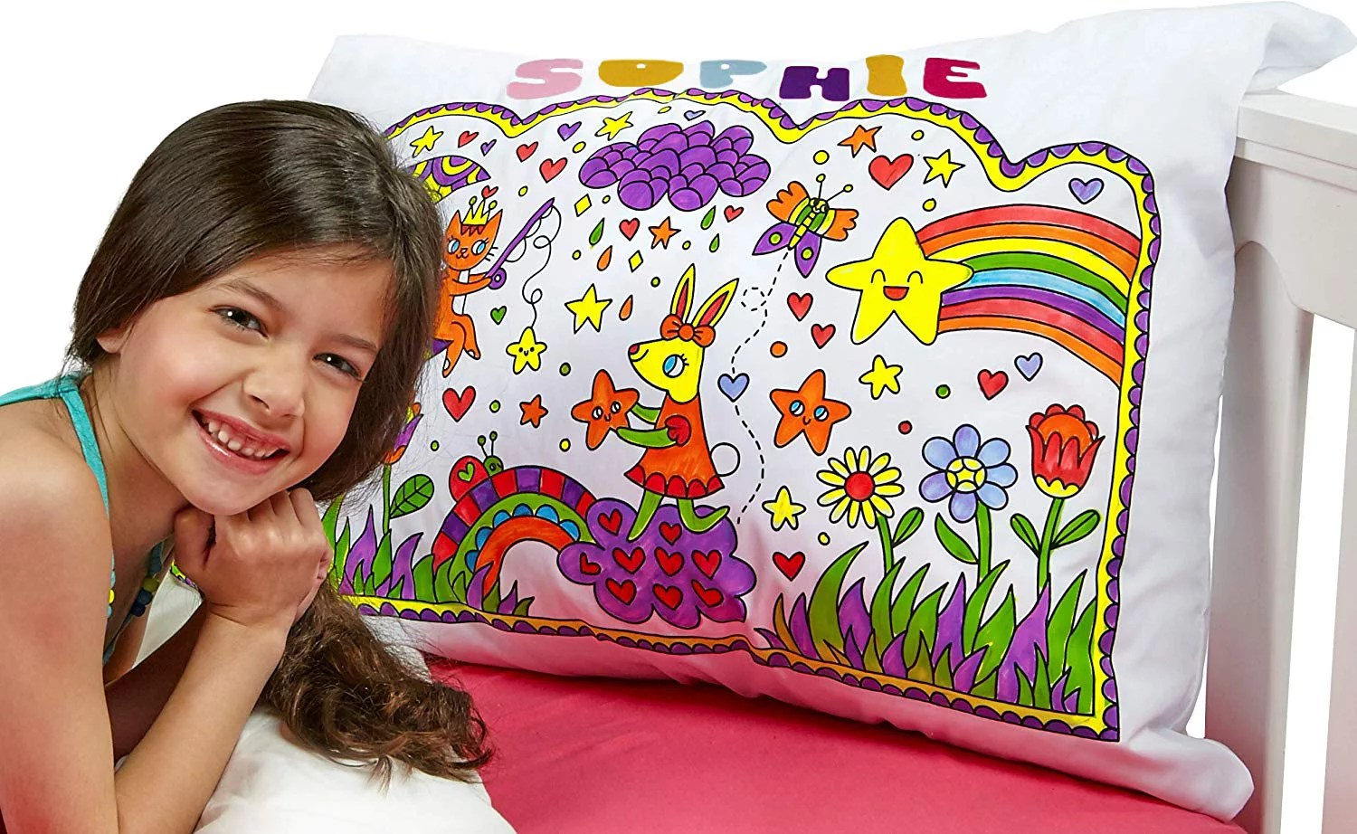 let s create my pillowart diy white pillow case standard size paint make your own pillowcase art crafts kits for children party favor set