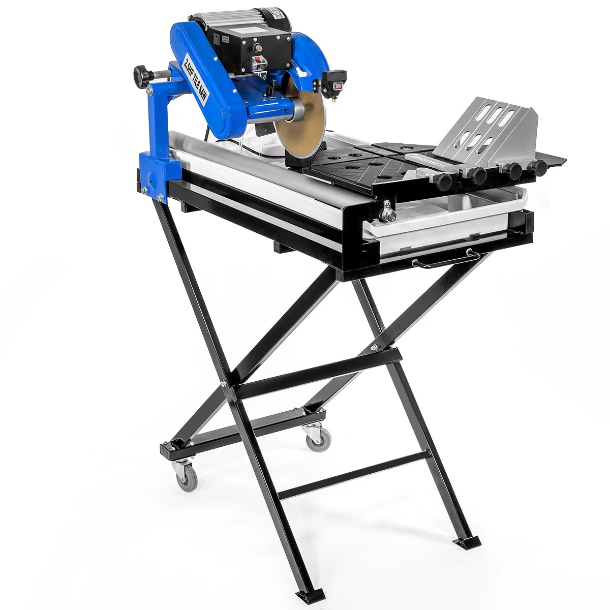 stark 27 inch wet tile saw cut build in bean light guide water pump w tray foldable stands 2 5hp motor walmart com