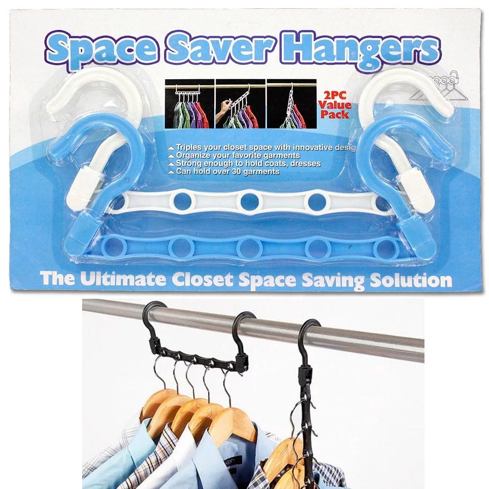 4pc Hangers Space Saving Clothes Closet Rack Organizer ... on Closet Space Savers Walmart  id=92428