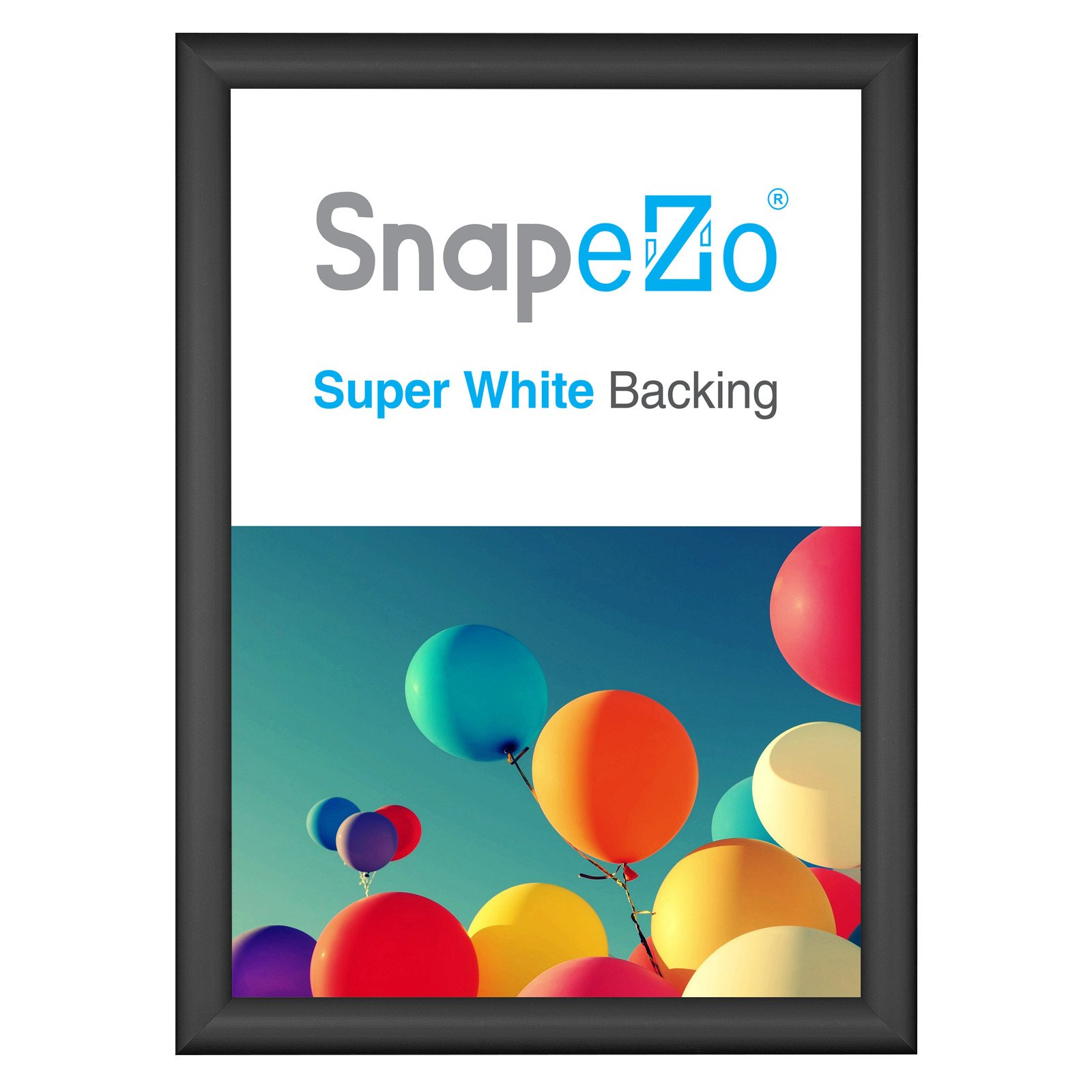 black snap frame poster size a3 1 inch profile