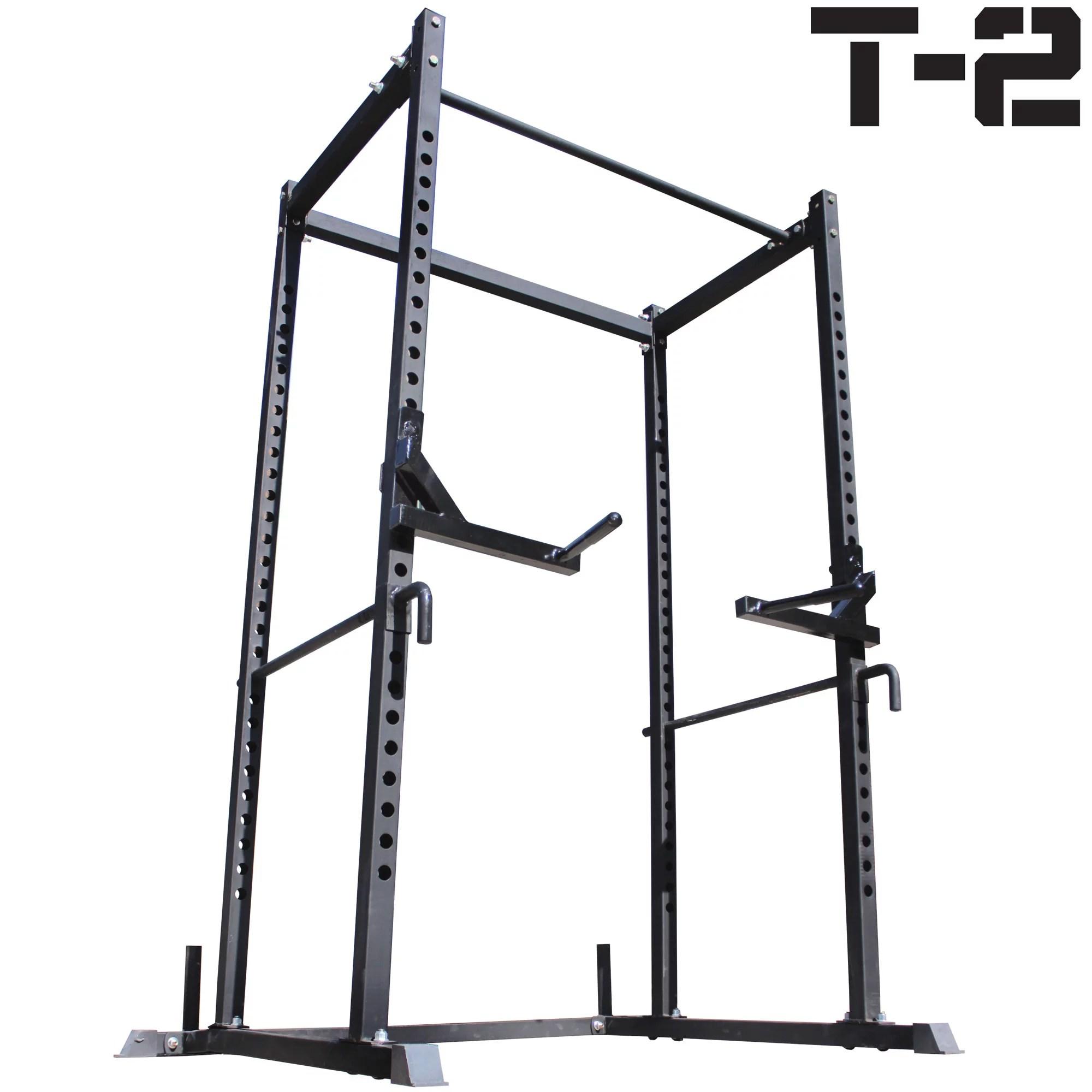 titan t 2 series power rack dip bars squat deadlift cage bench stand pull up walmart com
