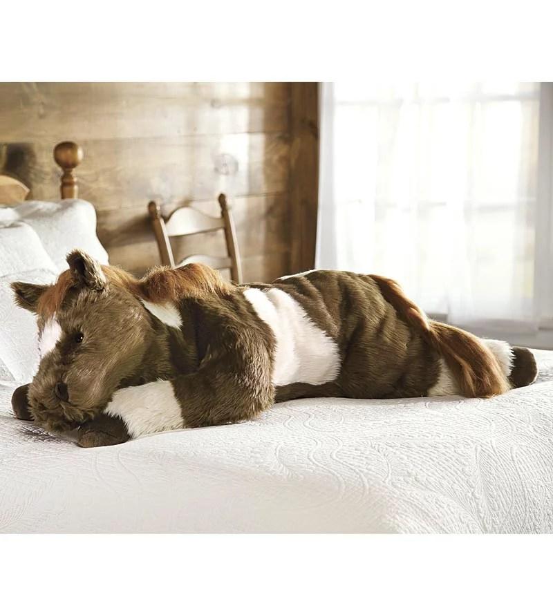 super soft pinto pony body pillow w realistic features walmart com