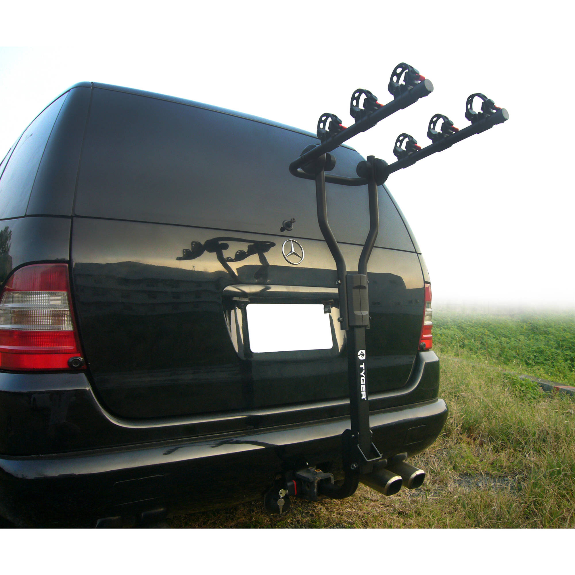 tyger 3 bike carrier rack with lock black fits 1 1 4 and 2 hitch receivers
