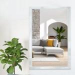 Neutype Full Length Mirror Frameless Mirror Wall Mirror Rectangular Glass Flat Decoration Mirrors For Bathroom Living Room Or Bedroom 47 X 31 5 Walmart Com Walmart Com