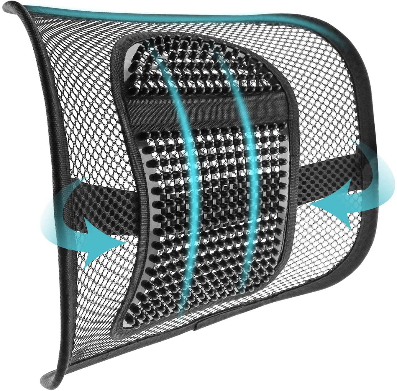 mesh lumbar support car lumbar cushion massage lumbar pillow lumbar support for office chair or car seat breathable and comfortable