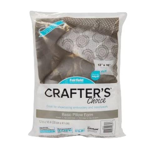 fairfield crafter s choice 4 pack pillow insert 12 x 16