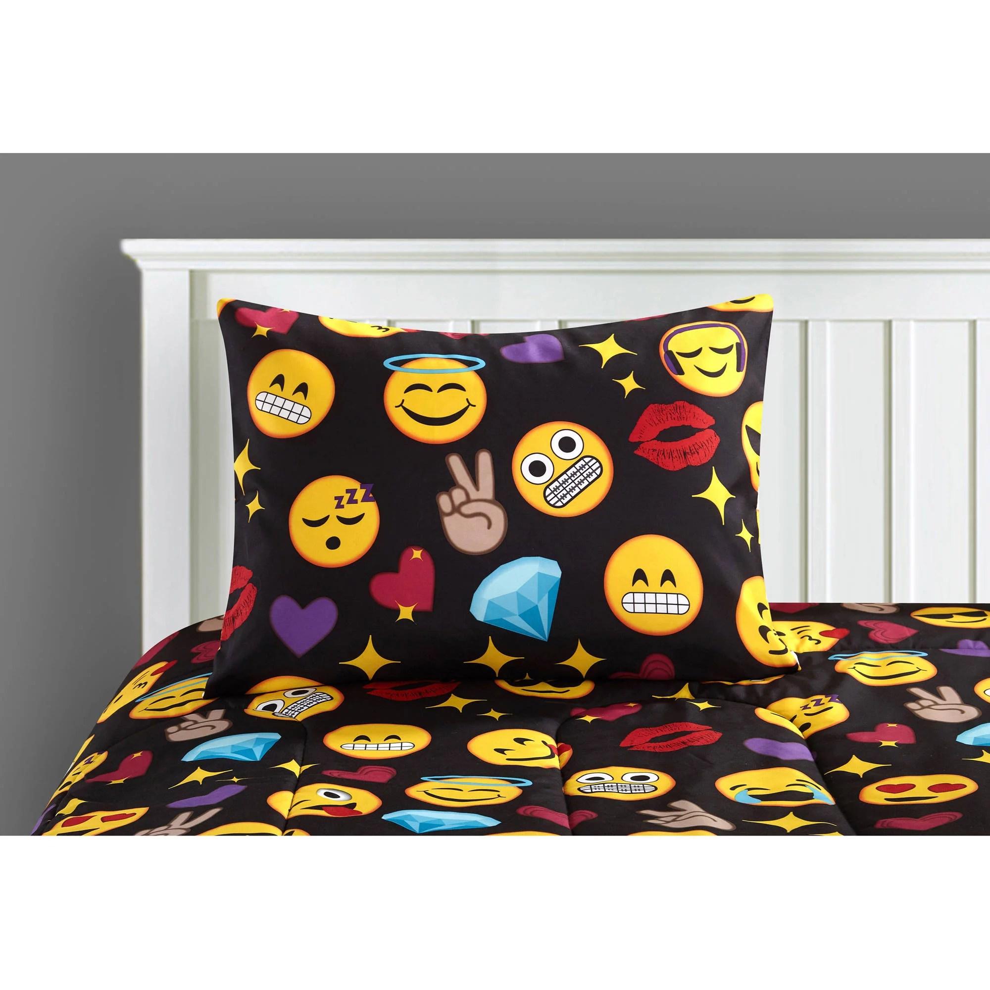Emoji Bedding Set Queen Bed In A Bag Kids Teen Bedroom