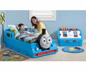 Step2 Thomas The Tank Engine Plastic Toddler Bed Blue Walmart Com Walmart Com