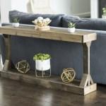 Barb Large Console Table Solid Wood By Del Hutson Designs Dark Walnut Walmart Com Walmart Com