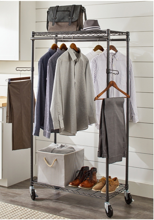 better homes gardens double hanging garment rack 38 2in wx 23 6in dx 66 1in h gunmetal finish gray