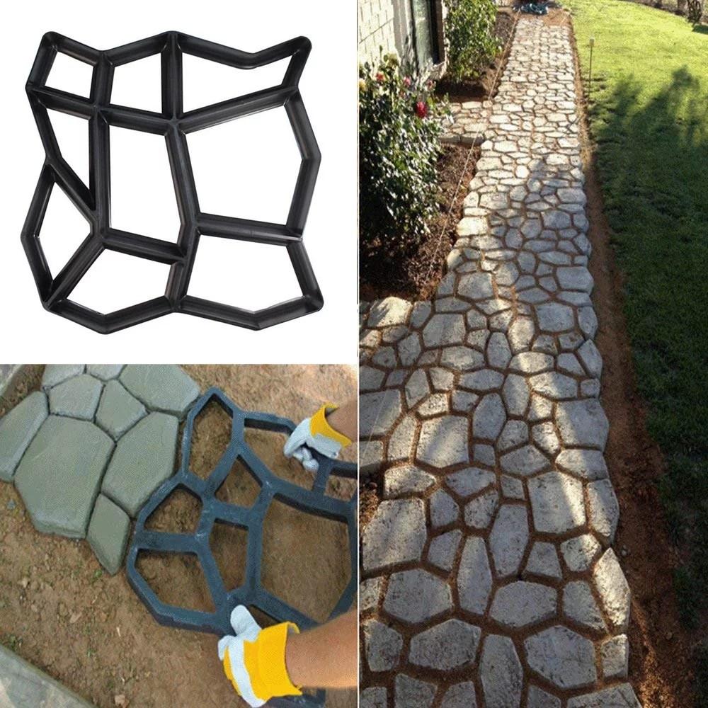 gobestart path maker mold reusable concrete cement stone design paver walk mould