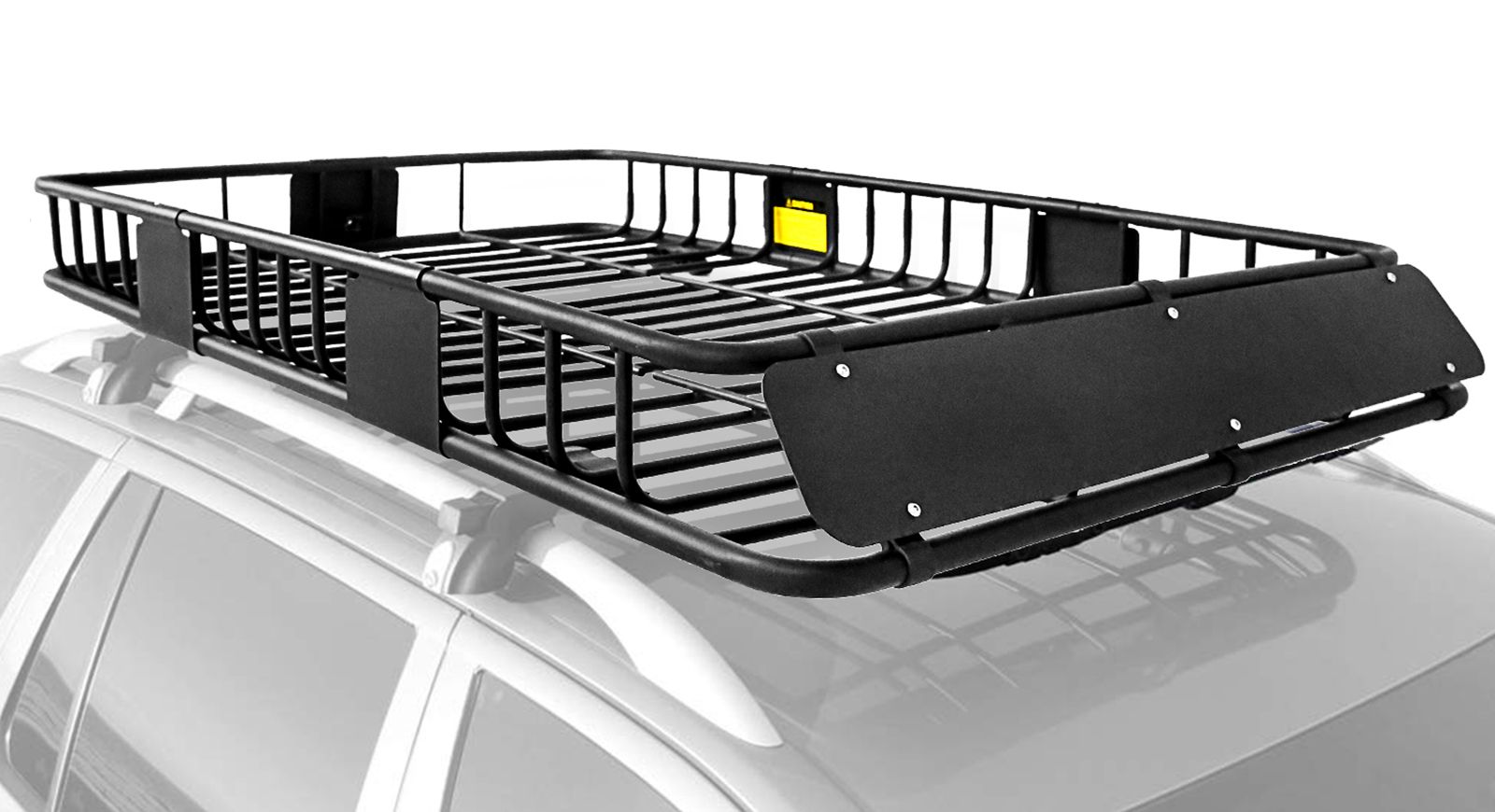 leader accessories roof rack cargo carrier rooftop carrier basket with extension car top luggage holder 64 x 39 x 6 black universal for suv cars
