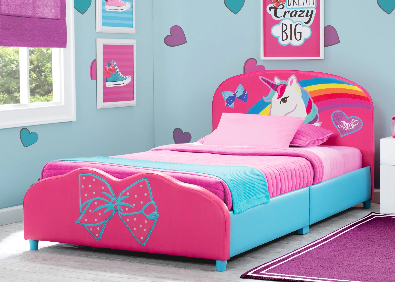 Jojo Siwa Upholstered Twin Bed By Delta Children Walmart Com Walmart Com