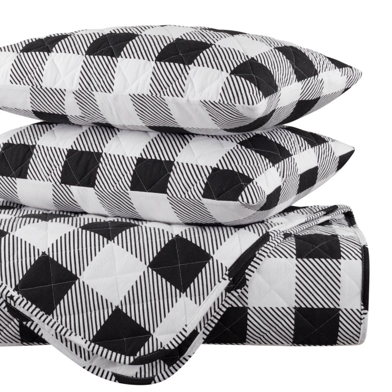 Walmart black and white buffalo check plaid