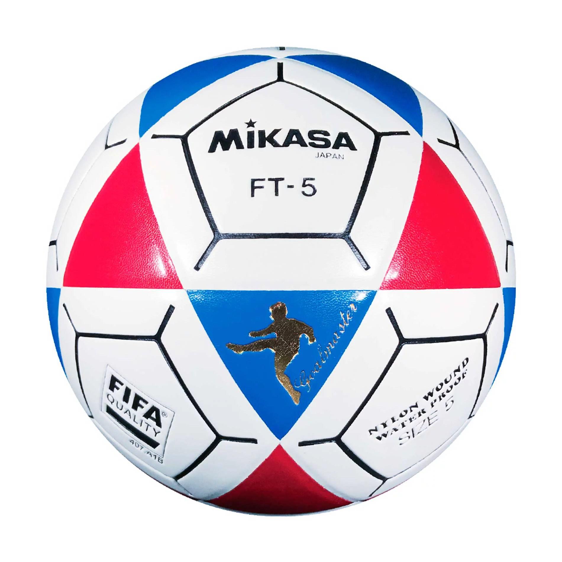 Mikasa Ft5 Goal Master Soccer Ball White Blue Red Size 5