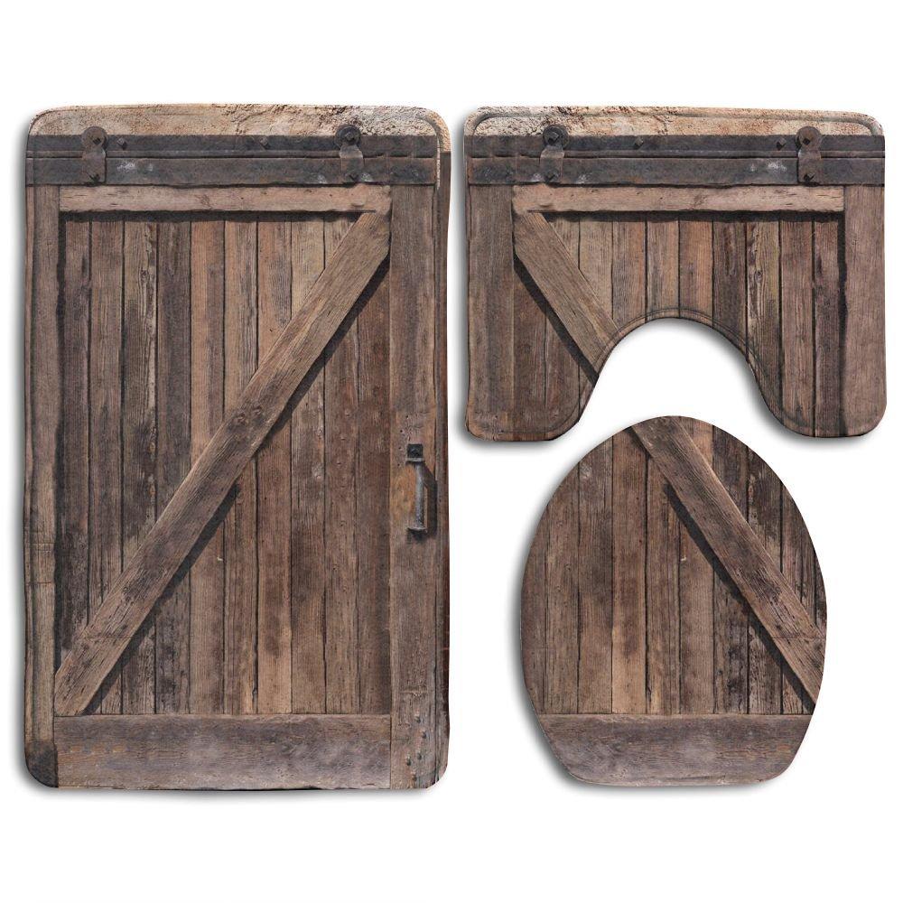 gohao wooden barn door stone farmhouse vintage desgin 3 on farmhouse colors for bath mats walmart id=77602