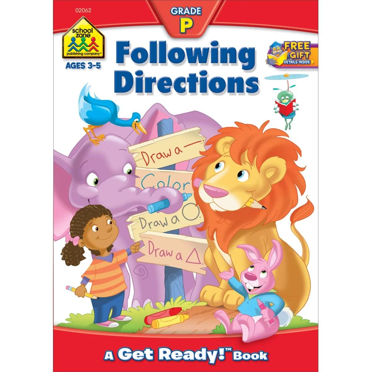 Preschool Workbooks Following Directions Ages 3 5