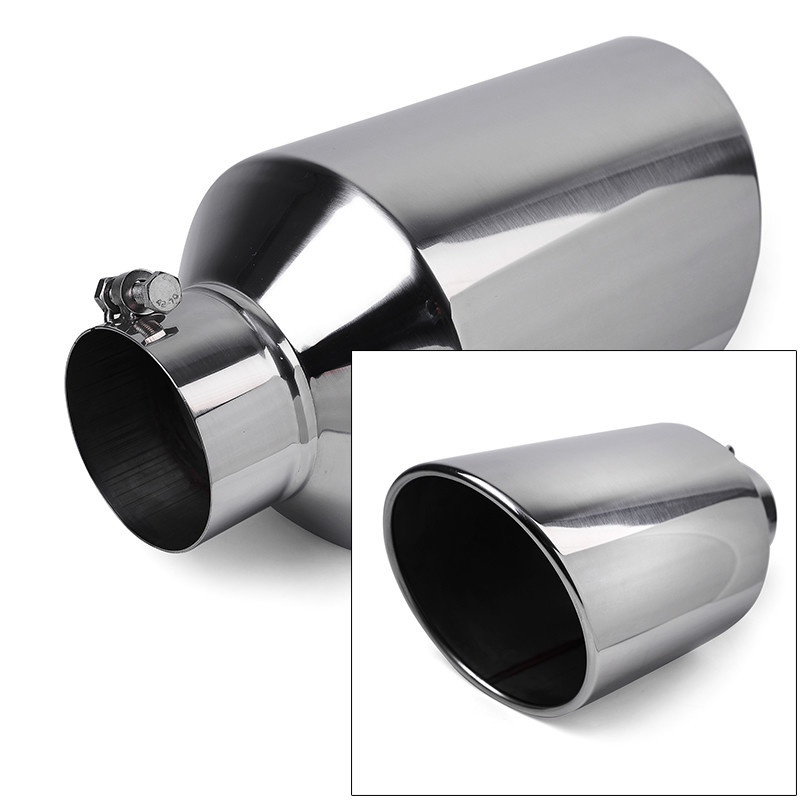 universal diesel truck angled polish 18 inch bolt on exhaust tip 4 in 8 out stainless steel