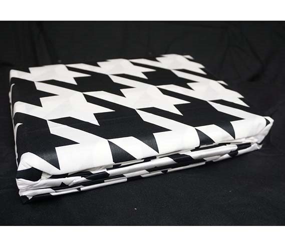 Houndstooth Black And White Twin Xl Sheet Set Walmart Com