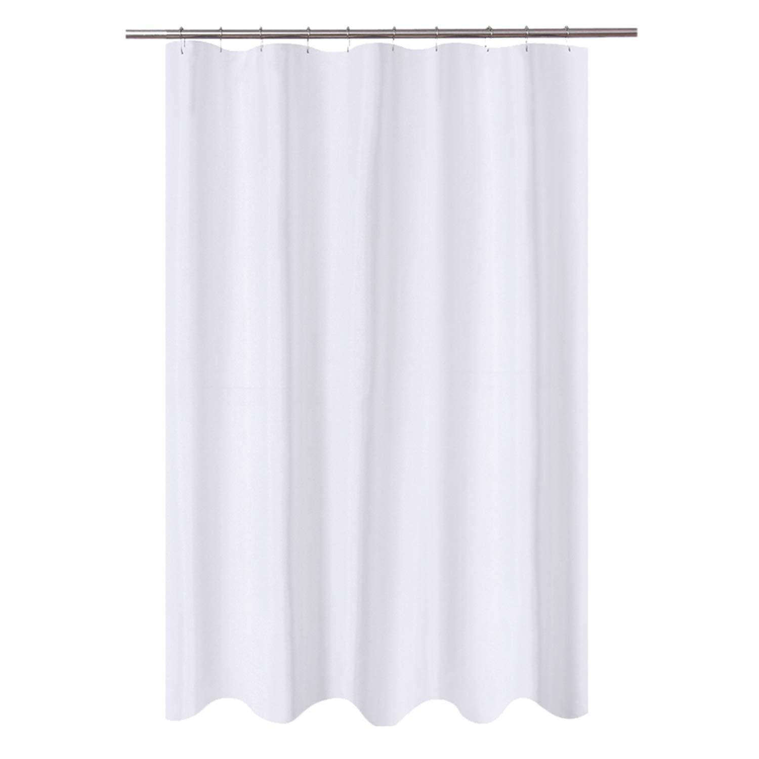 n y home fabric shower curtain liner 54 x 72 inches bath stall size hotel quality washable water repellent white bathroom curtains with grommets
