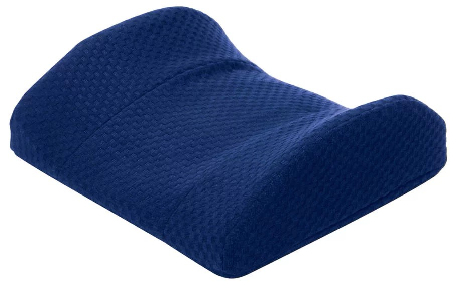 carex memory foam lumbar pillow with back support for use with office chair car seat and more navy blue