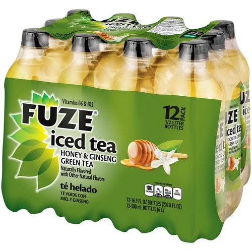 FUZE Honey Ginseng Green Iced Tea 169 fl oz 12Pack