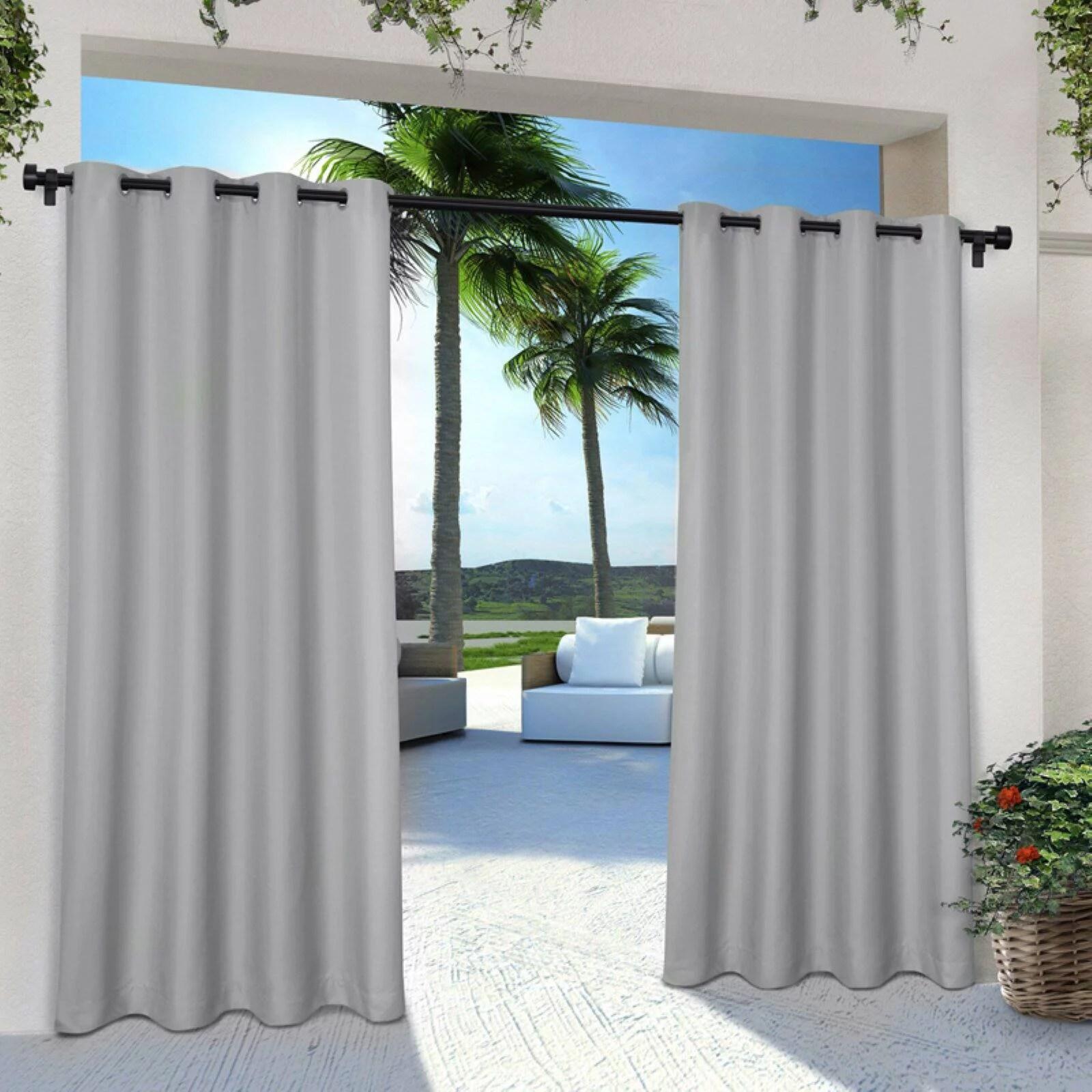 green outdoor curtains walmart com