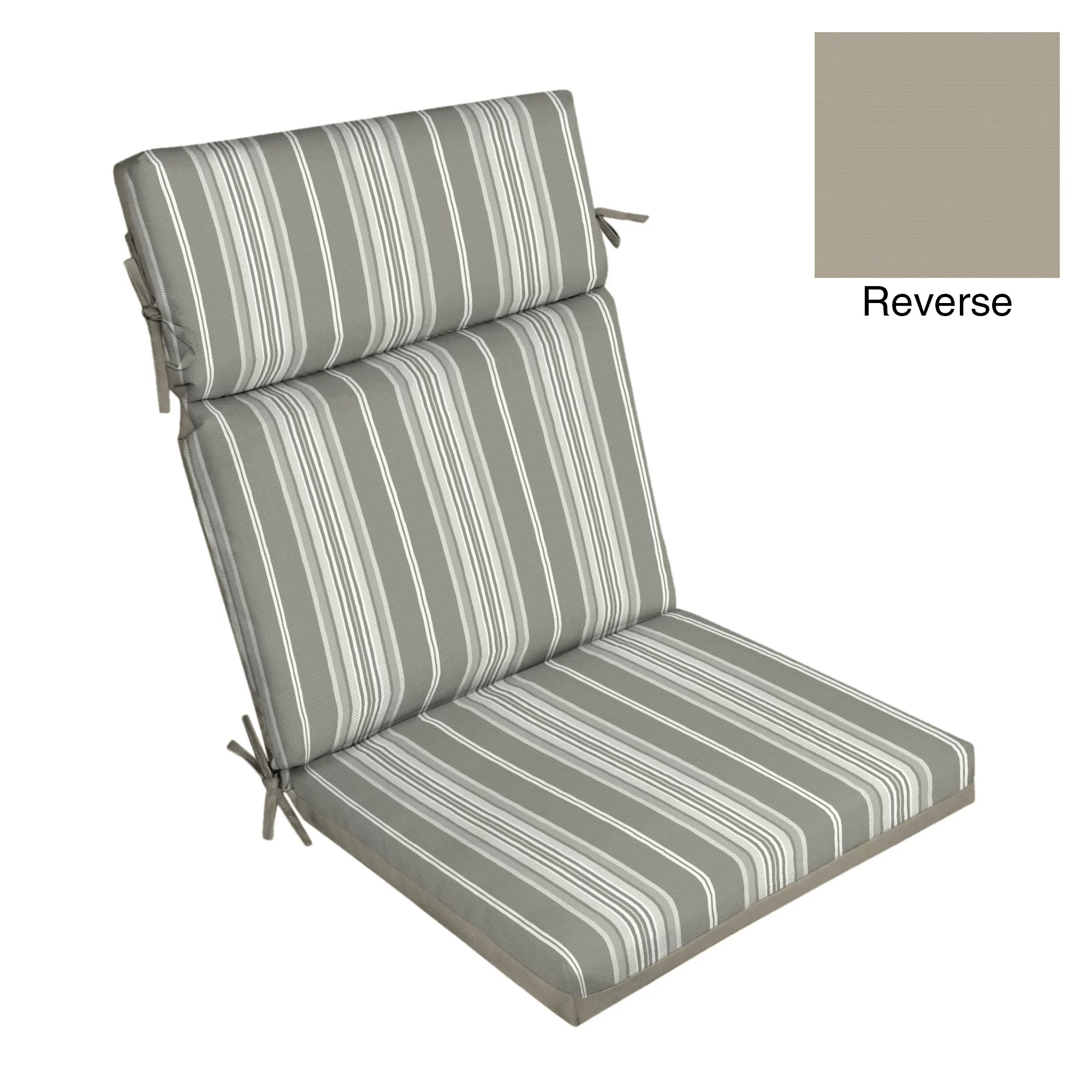 better homes gardens gray stripe 44 x 21 in dining chair cushion w enviroguard