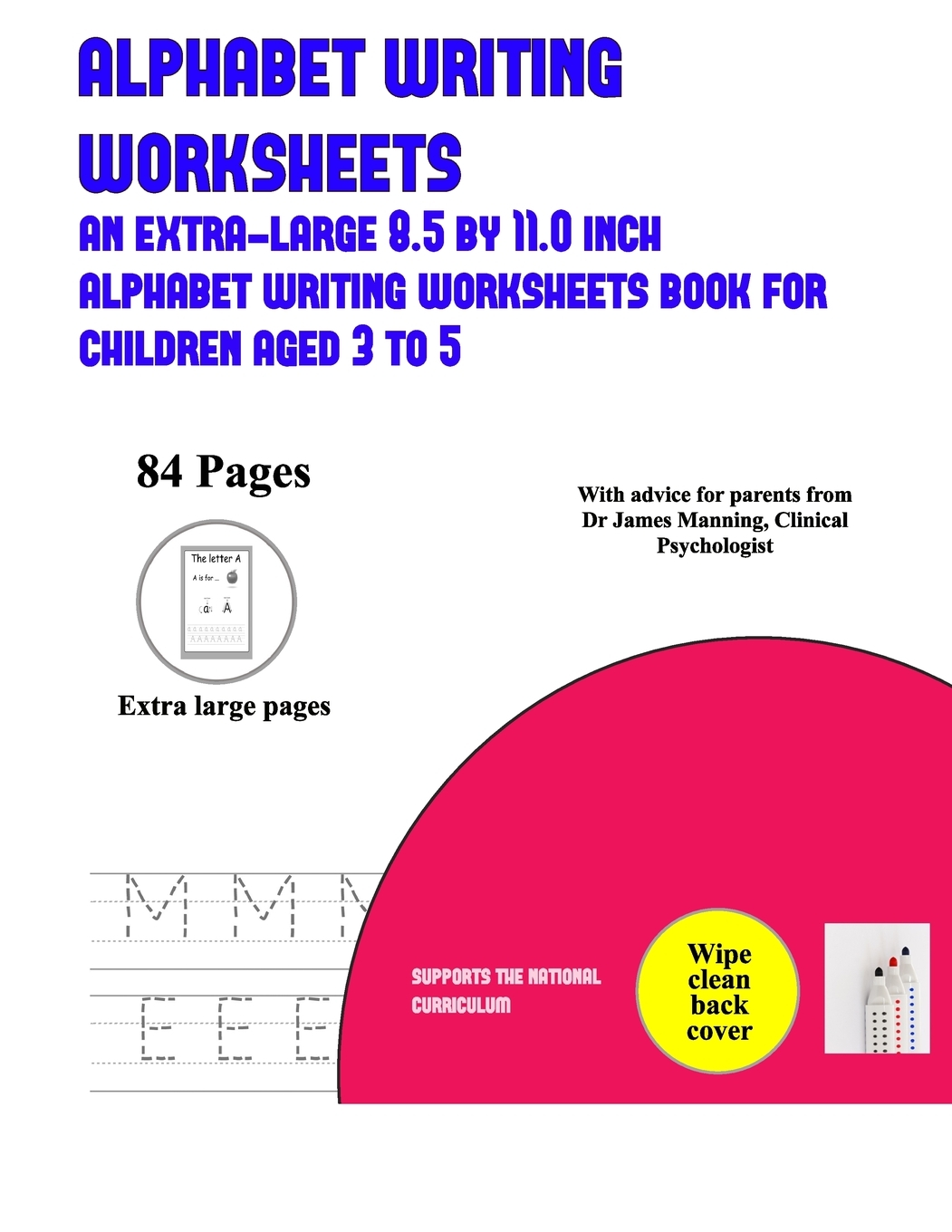 Alphabet Writing Worksheets An Extra Large 8 5 By 11 0