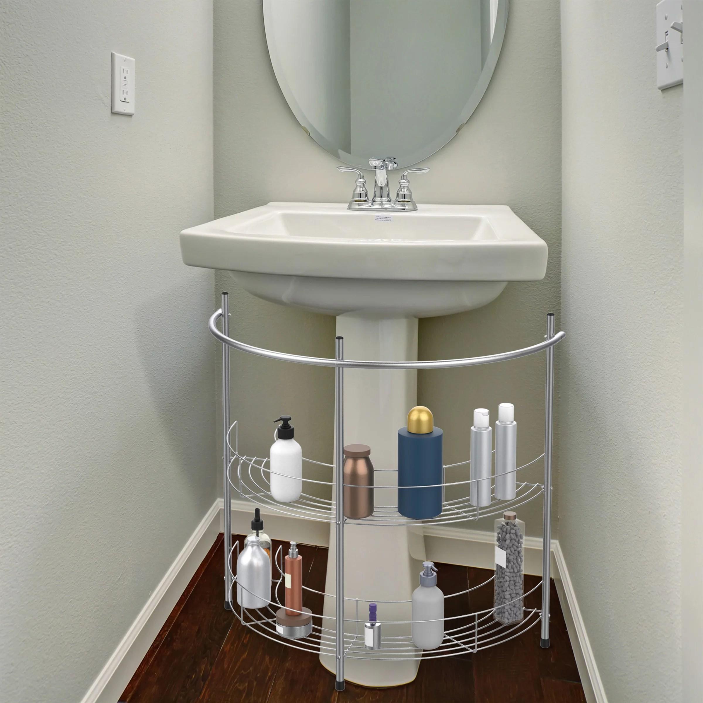 lavish home compact pedestal sink organizer walmart com