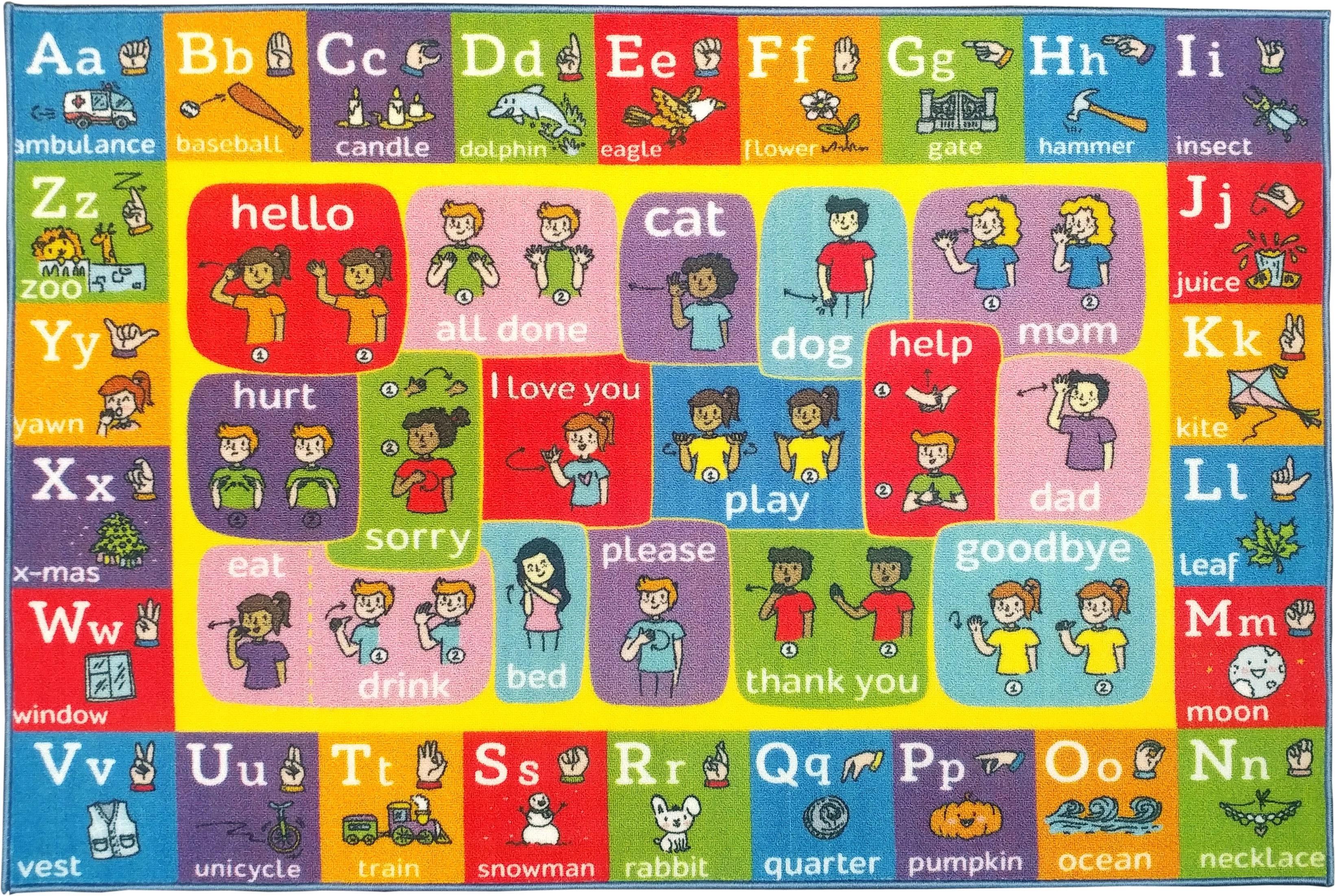 Kc Cubs Playtime Collection Abc Alphabet Asl Sign Language