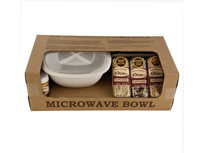 price ea amish country popcorn microwave popcorn gift bowl set 1ea 496830
