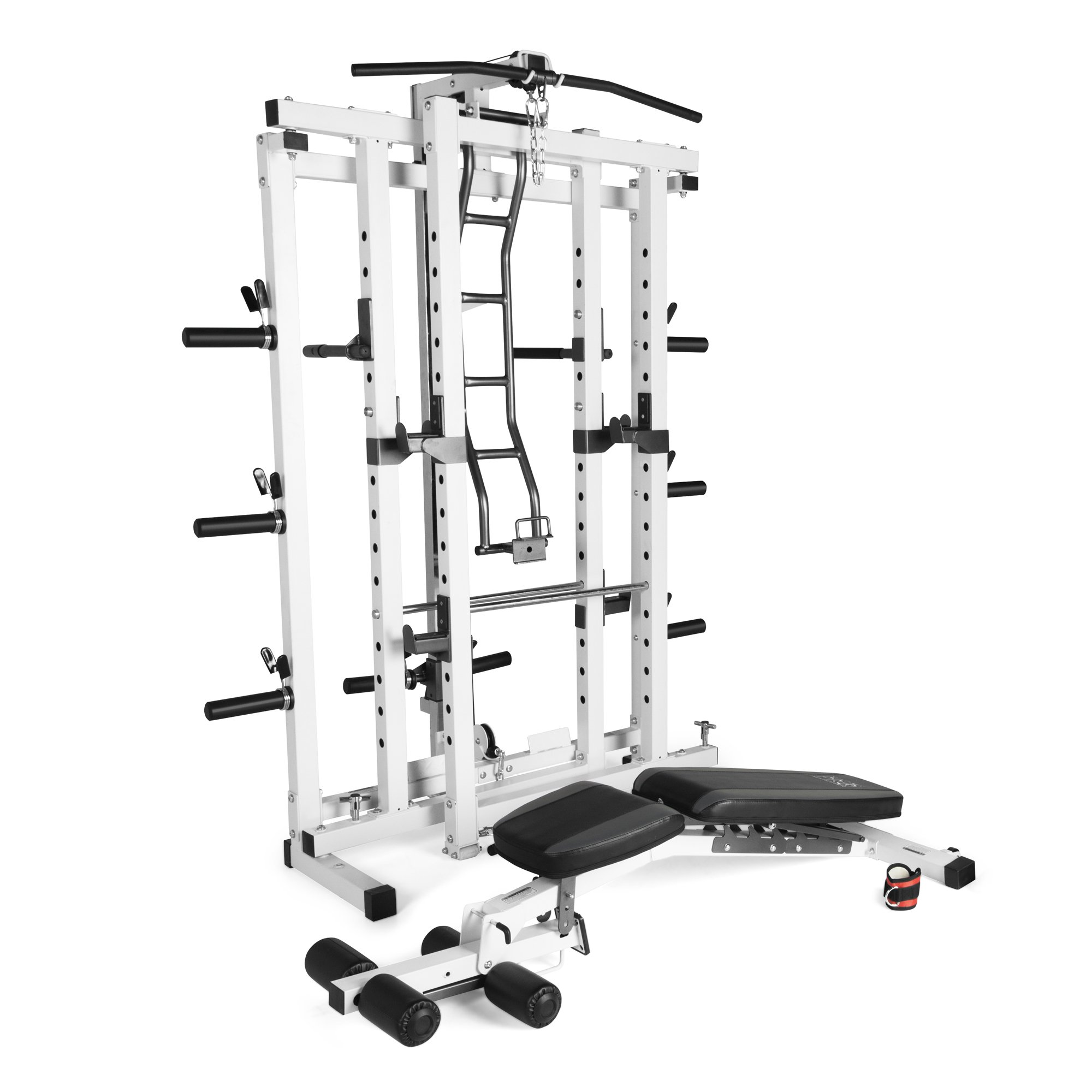 marcy pro deluxe folding total body home gym cage power rack system with bench walmart com