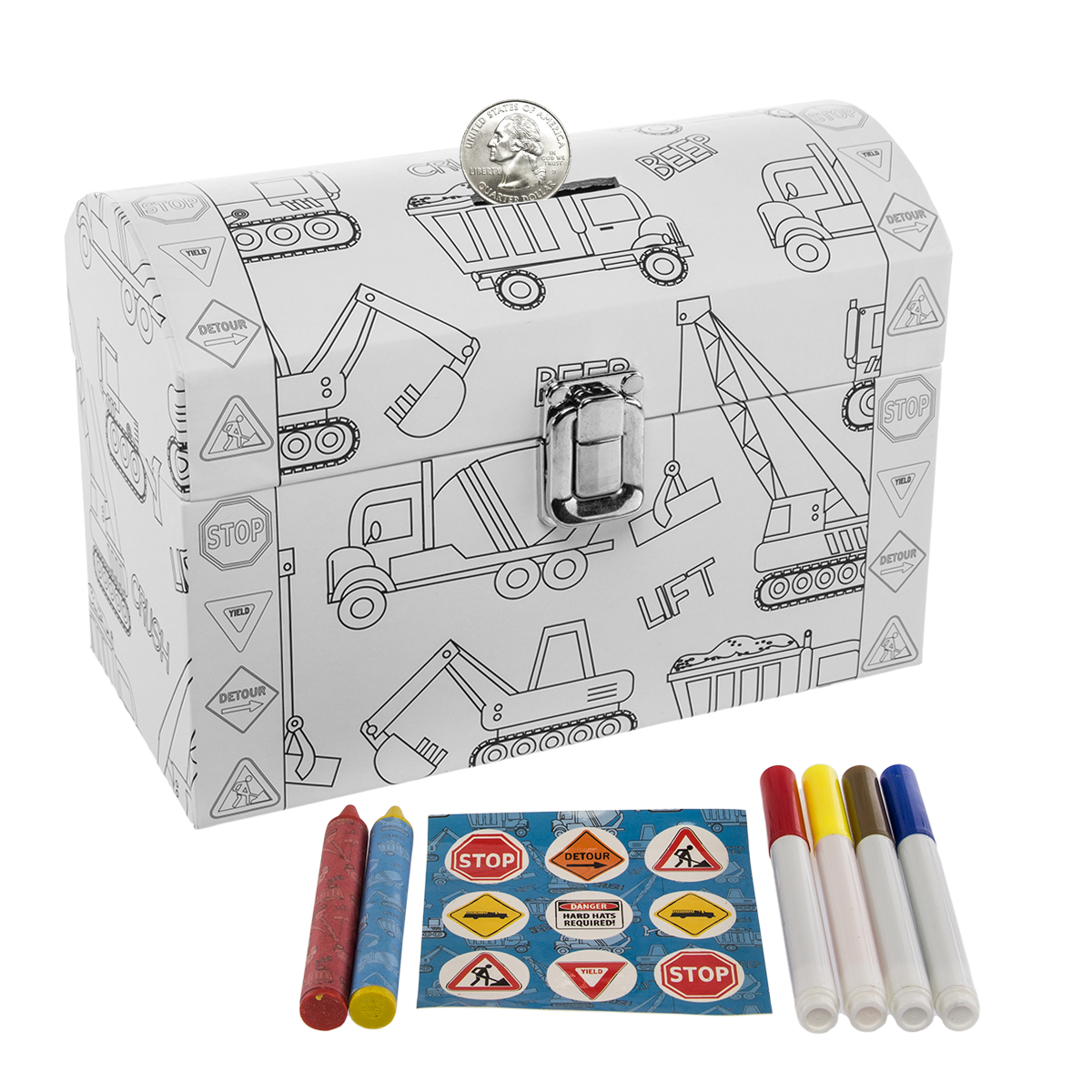 Tri Coastal Design Kid S Color Your Own Piggy Bank