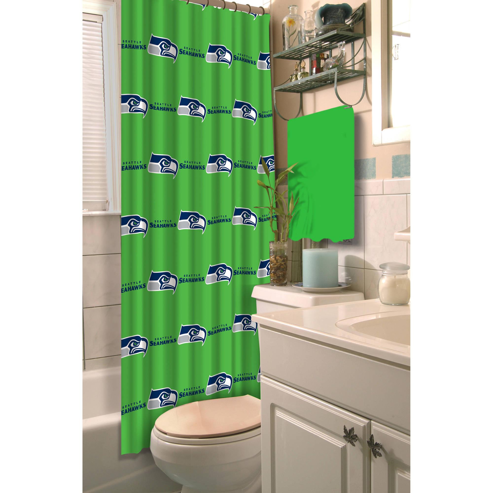 nfl seattle seahawks shower curtain 1 each walmart com