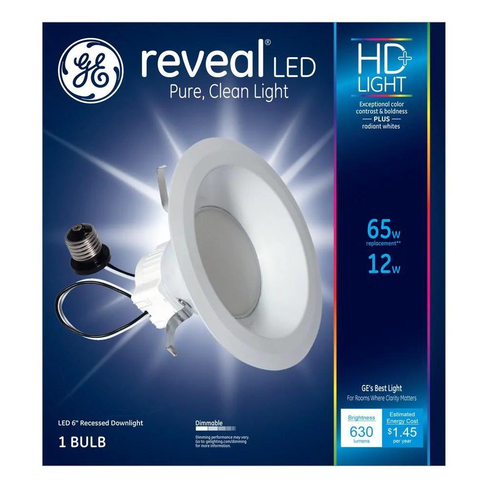 g e lighting reveal led can light retrofit kit 6 in 12 watt 83572